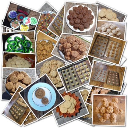 a collage of some recent batches of cookies I've made