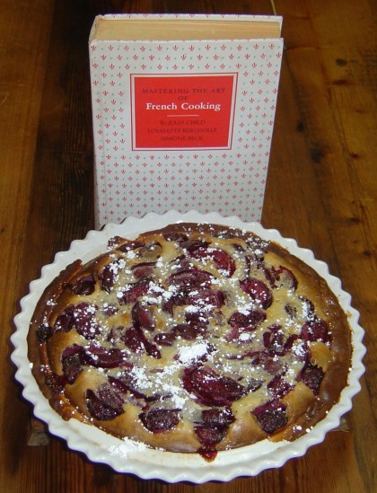 Clafouti aux Pruneax for Julia Child's 100th birthday