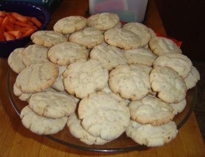 vegan maple-pecan cookies