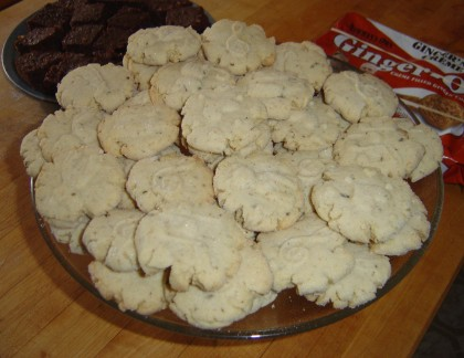 vegan vanilla-bean cookies