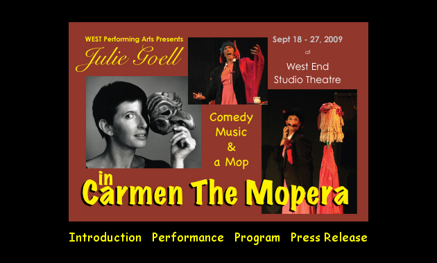the DVD menu for Carmen the Mopera