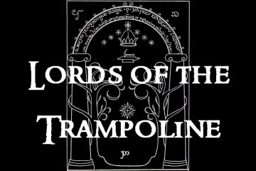 the closing credits in the 'Lords of the Trampoline' music video