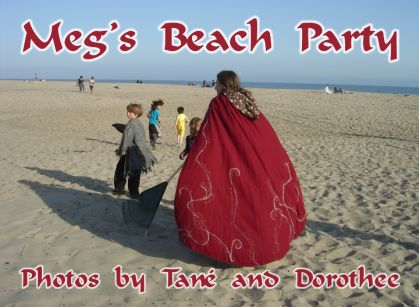 the title screen for the 'Meg's Beach Party' music video honoring retiring AFE Consultant-Teacher Meg Brown