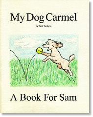 a small image of the 'My Dog Carmel' book cover