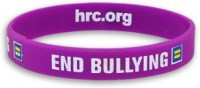 an 'End Bullying' wristband from the Human Rights Campaign