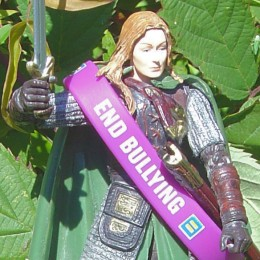 an 'End Bullying' wristband modeled by Éowyn