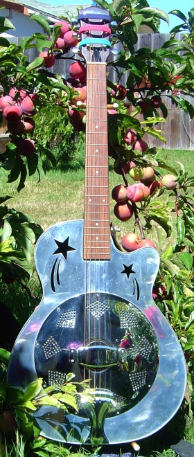 My Liberty 'shooting stars' resonator guitar