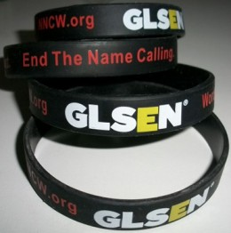 No Name-Calling Week 'Words Can Hurt. End the Name-Calling' anti-bullying wristbands