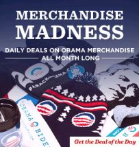 an ad for the official Obama 2012 Store