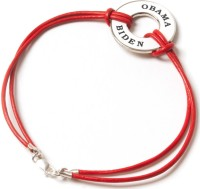 A red leather and metal Obama-Biden bracelet from the Obama for America 2012 store