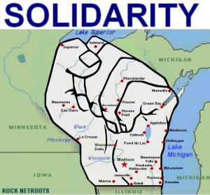 Lou Kaye's 'Wisconsin Fist of Solidarity' graphic